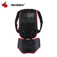 HEROBIKER Unisex Motorcycle Racing Bike ATV Body Armor VEST Black Motorcycle Back Support Effectively Protect The