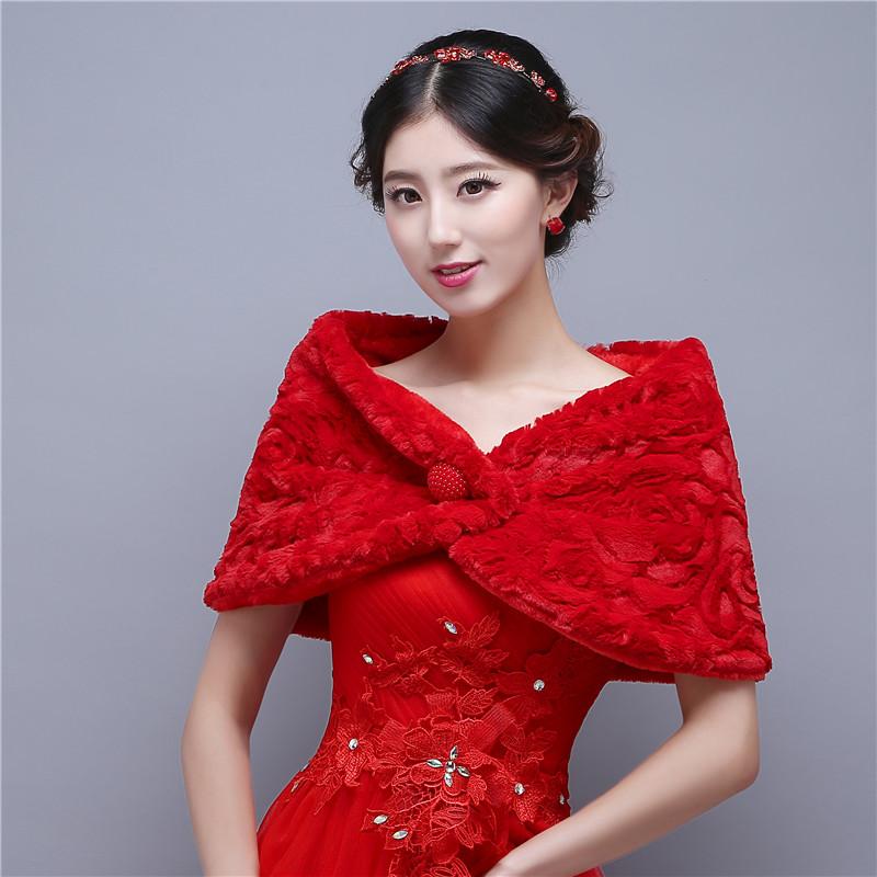 boleros para novias de mariage rouge d39hiver veste bolero chacircle - Tole Blanche Mariage
