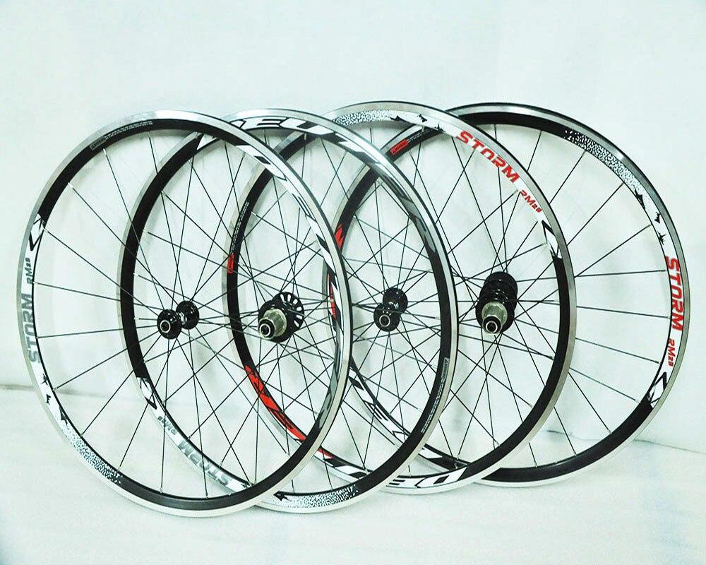 Sports 4 roulement vélo 700C alliage V frein 8 9 10 vitesses roues route vélo roue Aluminium 90 anneau compatible fastace mavic moyeux