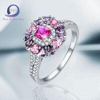 Merthus 925 Sterling Silber Ring Verlobungsring Schmuck Rosa Herz Birnenform Größe 7 8 9