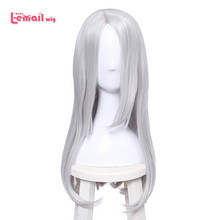 L email wig Brand New YURI!!! on ICE Young Victor Nikiforov Cosplay Wigs Long Straight Synthetic Hair Perucas Cosplay Wig