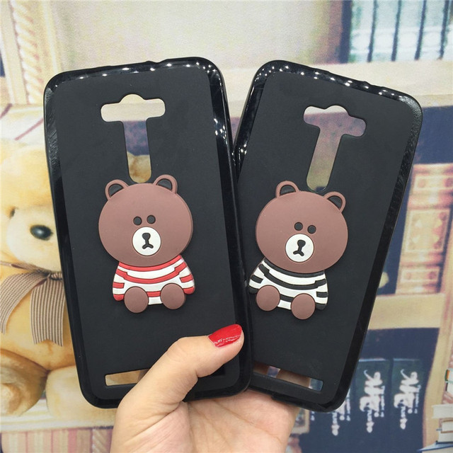 super popular dbd94 c5777 US $3.07 38% OFF|3D Soft Silicone Phone Case Cover for Asus Zenfone 2 Laser  ZE550KL ZE551KL Z00LD Cute Back Covers Cartoon Cases Capa Funda-in Fitted  ...