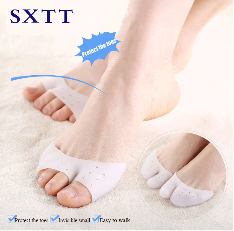 SXTT Ballet insoles thumb valgus correctionSilicone Gel Insoles Forefoot Pad High Heel shock Absorption Anti Slippery Feet Pain цена 2017