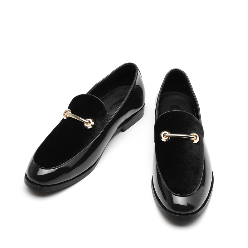 M-anxiu 2018 Fashion Pointed Toe Dress Shoes Men Loafers Patent Leather Oxford Shoes for Men Formal Mariage Wedding Shoes 3