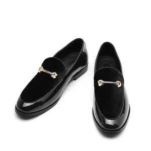 Image 5 - M anxiu chaussures Oxford en cuir verni pour hommes, chaussures habillées à bout pointu, mocassins pour mariages formels, collection 2020
