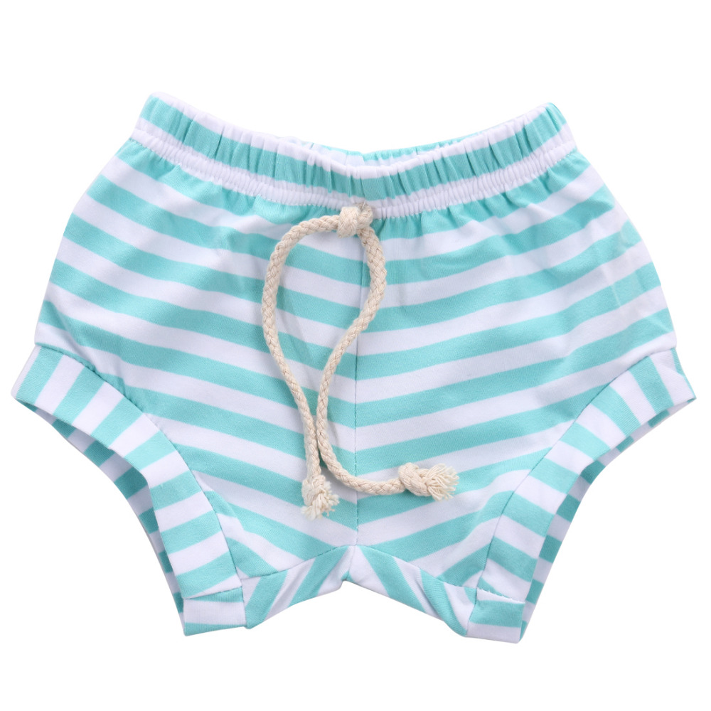 HOT Sale Newborn Baby Bloomers Gray Pink Blue Black White Stripes Baby Girls Shorts Summer Trousers PP Pants 0-4T
