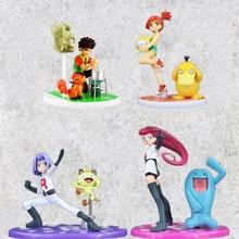 Anime Figuur Speelgoed Charmander Misty Psyduck Togepi Team Rocket Jessie James Meowth Brock Vulpix Geodude Model Poppen