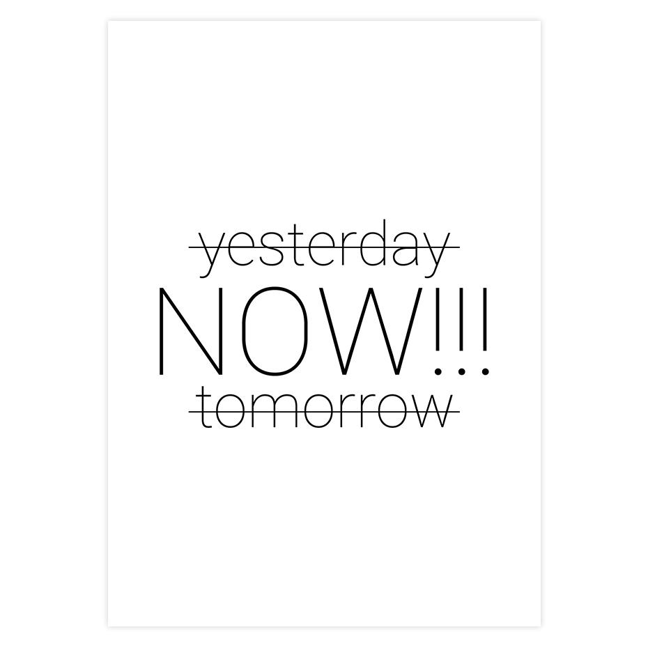 Wczoraj Teraz Jutro Mogę Wyzwanie Zmiana Jogi Druku Cytaty