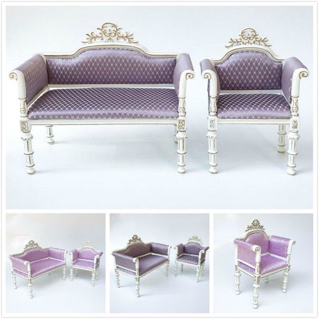 kids dollhouse furniture. Doub K 1:6 Dollhouse Furniture Toy Living Room Wooden Miniature Sofa Chair Kids Girls M
