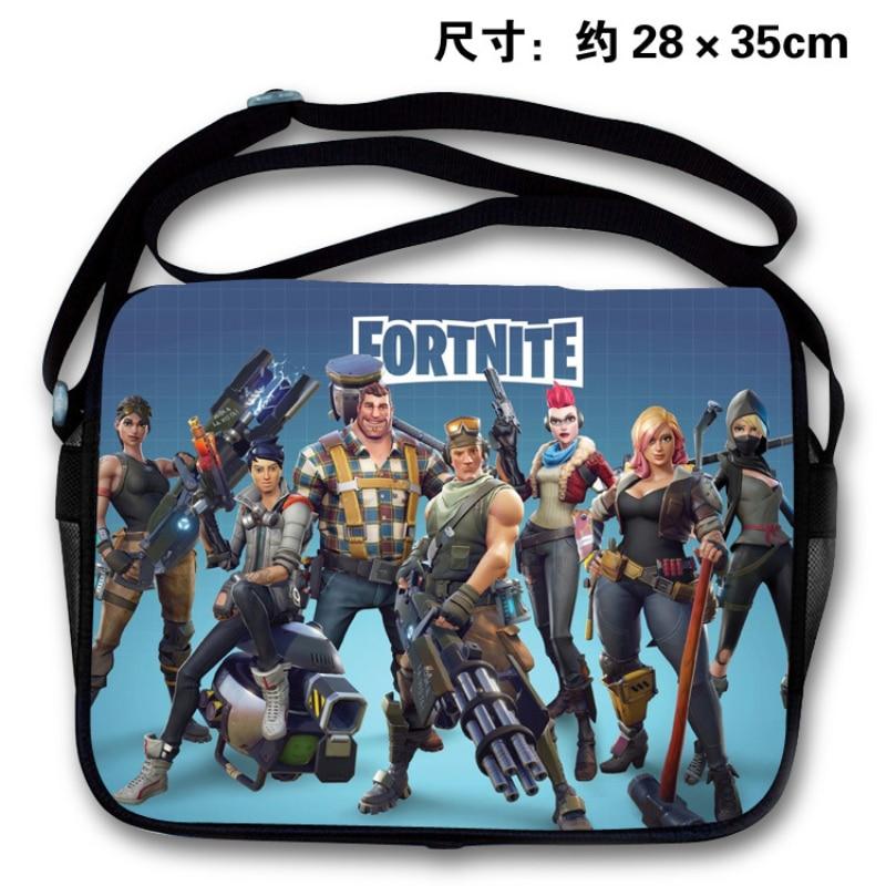 Game Fortnite School Bag Teenager Back to School Bag Cross Body Handbag Boys Girls Cartoon Backpack Action Figure Toys Gift Bag