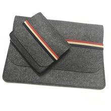 Новая шерстяная фетровая сумка для ноутбука Macbook Pro Air retina 11 12 13 15 дюймов защитный чехол для Mac Book Air 13 чехол для ноутбука