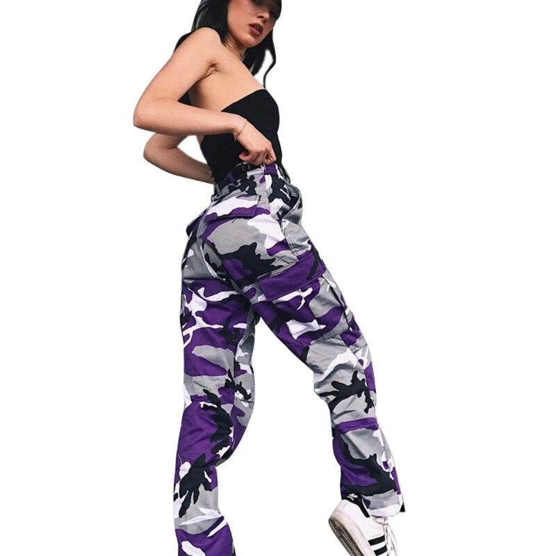 Novas Mulheres de Cintura Alta Calças de Camuflagem Moda Calças Plus Size 3XL Sweatpants Streetwear Calças Camo Pantalon Femme Feminino X1