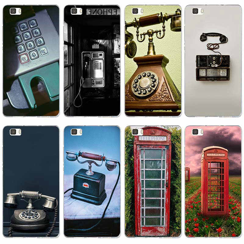 Vintage rétro téléphone souple TPU Silicone téléphone etui téléphone huawei P8 P9 P10 P20 Lite Smart Mate 10 Pro Y3 Y5 Y6 II Y7 Honor 6X