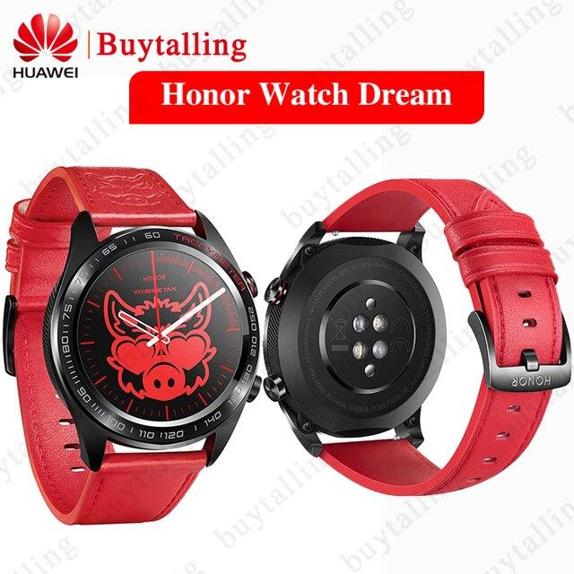 Original Huawei Honor Uhr Traum Ehre uhr magie Smart Uhr Outdoor Sport Schwimmen berg GPS Farbe Bildschirm Uhr