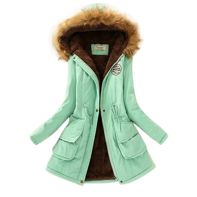 Aliexpress.com : Buy New 2017 Women Jacket Warm Solid Hooded ...