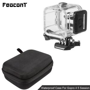 Image 3 - Водонепроницаемый чехол для корпуса камеры, маленькая коробка для хранения, жесткая сумка для Gopro Hero 6 5 4 3 3 + 5, чехол для подводной защиты