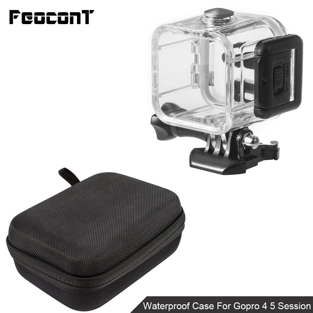 Image 3 - Waterproof Camera Housing Case Small Storage Box Hard Bag For Gopro Hero 6 5 4 3 3+ 5 Session Underwater Protector Case Cover-in Sports Camcorder Cases from Consumer Electronics