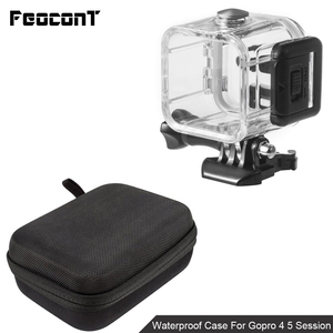 Image 3 - Waterproof Camera Housing Case Small Storage Box Hard Bag For Gopro Hero 6 5 4 3 3+ 5 Session Underwater Protector Case Cover