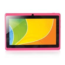 Yuntab 7 pulgadas Q88 Allwinner A33 Quad Core 512 MB/8 GB Android 4.4 Kids Tablet PC HD de la Pantalla 1024*600 de Doble Cámara de Envío Libre