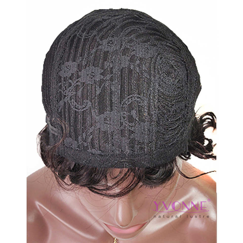 YVONNE Finger Wave Pixie Cut Wig For Women Brazilian Virgin Hair Machine Made Wigs With Natural Color
