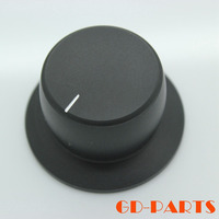 Free Shipping 2 Solid Aluminum Knob 38x22mm FOR Amplifier CD Player Power Volume Potentiometer