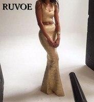 Elegant Sexy 2 piece set Long Bandage Dress V neck Oil Print Flared Bottom Floor Length Gown HL Celebrity Maxi Dress QA 229