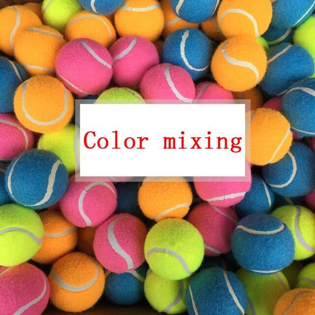 3pc Set Color Tennis Balls Sports Tournament Outdoor Fun Cricket