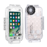 PULUZ 40m underwater diving mobile phone case for iphone 7 8 plus X XS XR XS Max surfing swimming snorkeling photo video
