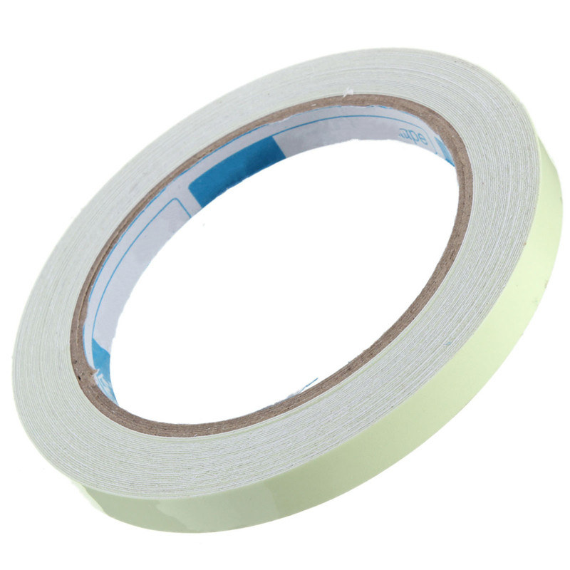 1pcs Luminous Tape Self-adhesive Glow In The Dark Hot Sale Personal Safely Security 10Mx10mm Free Shipping