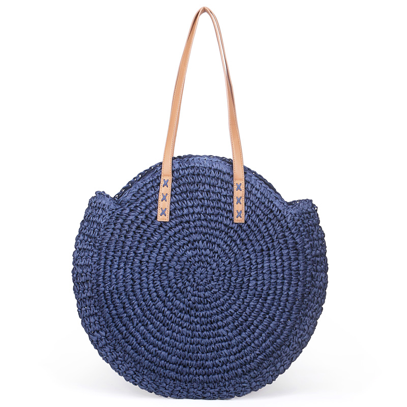 Natural Round Straw Tote Bag Handmade Woven Shoulder Bag Large Circle Rattan bags Bohemian Summer Vacation Casual BagsNatural Round Straw Tote Bag Handmade Woven Shoulder Bag Large Circle Rattan bags Bohemian Summer Vacation Casual Bags