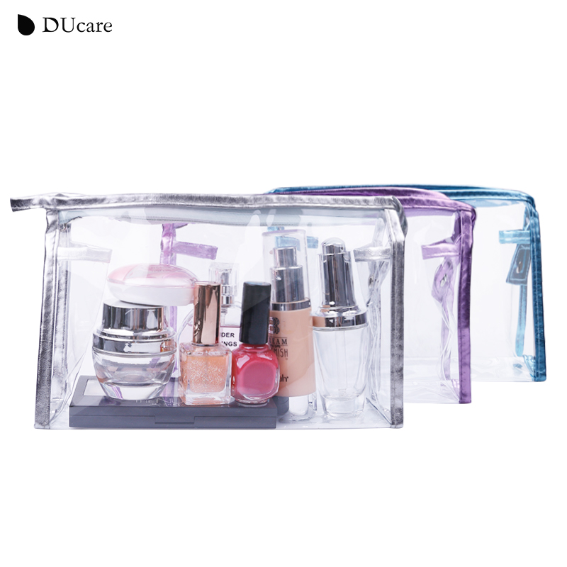 DUcare Cosmetic Bag Travel Makeup Bag Transparent Pouch Waterproof Make Up Case Big Capacity Beauty Tool