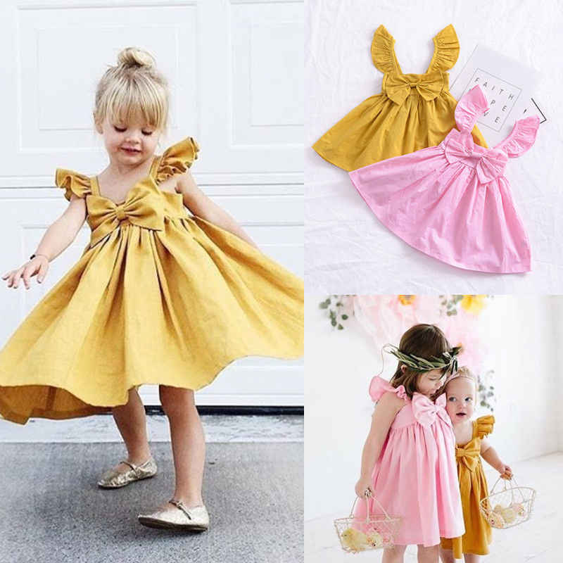 PUDCOCO Newest Cute Newborn Kids Baby Girl Ruffle Sleeveless Dress Princess Clothes Casual Outfits Summer Dresses