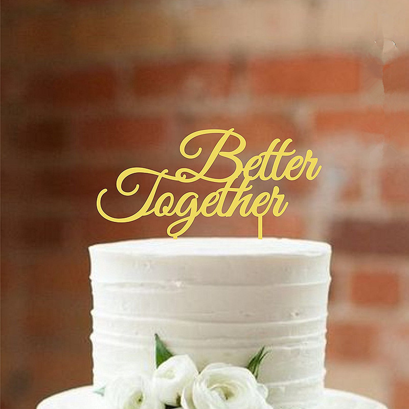 Mirror gold cake topper better together wedding cake toppers for mirror gold cake topper better together wedding cake toppers for wedding cake decorations in cake decorating supplies from home garden on aliexpress junglespirit Images