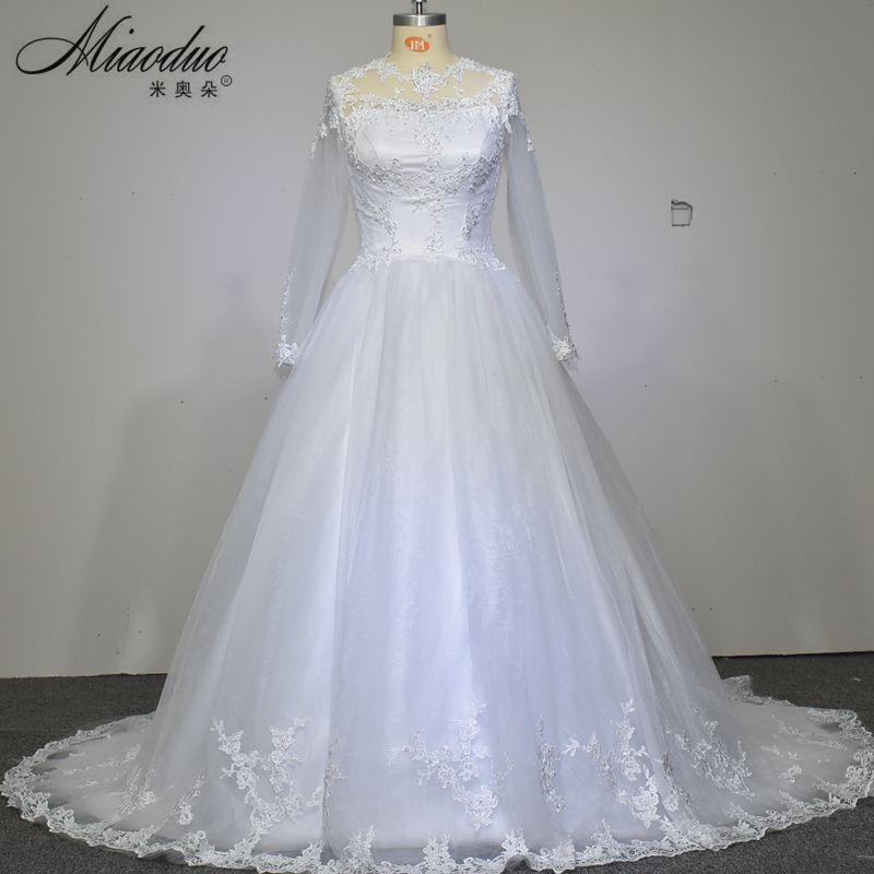 Vestido De Novia 2016 See Through Long Sleeves Lace Sexy font b Wedding b font font