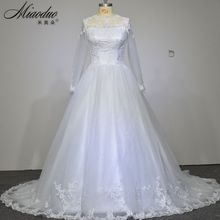 Vestido De Novia 2016 See Through Long Sleeves Lace Sexy Wedding Dress White Vintage Bridal Gown Custom Made Robe De Mariage