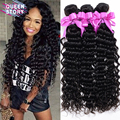 4 bundles Mongolian virgin hair Mongolian deep curly hot selling 6A unprocessed deep wave virgin hair 100% human hair bundles