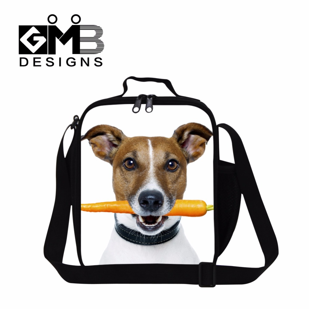 Latest Cute lunch bags for women,Dog Print Kids lunch bag,Stylish Insulated Lunch Box Bags for Children,Girls Shoulder Meal Bag
