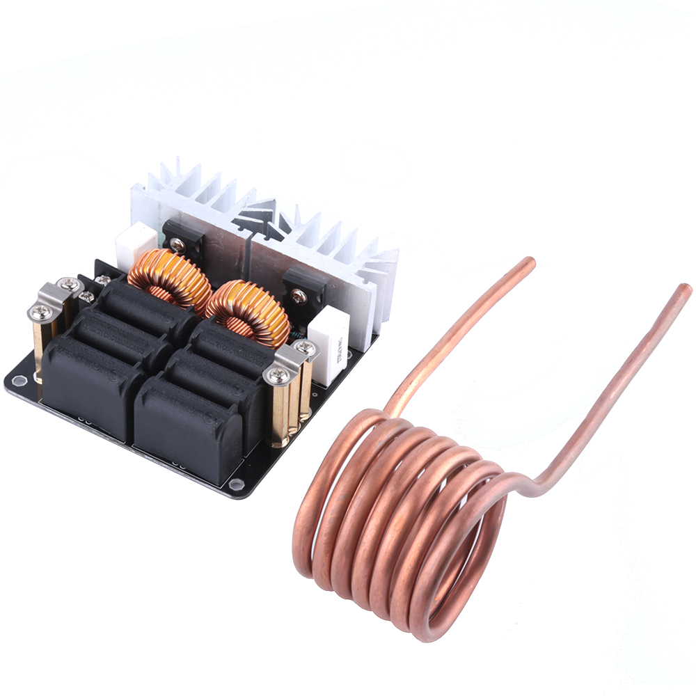 1000W ZVS Low Voltage Induction Heating Board Module/Tesla Voil + coil 12v-48V сетевое зарядное устройство cellular line 1 usb 2a кабель microusb achusbmusb2aw
