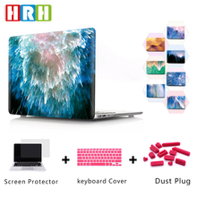 HRH Beauty Dazzle Rainbow Pattern Hard Plastic Case Laptop Body PC Shell for Mac Air Pro Retina 1315Touch Bar A1989 A1990 A1706