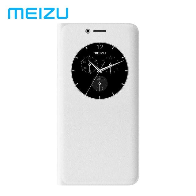 Оригинал Meizu кожа телефон флип Чехлы ячейки чехол для телефона защитная Cove облегающий Чехол Smart модные белые для Meizu M6 Примечание