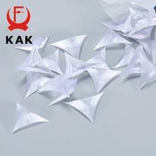 KAK 50PCS PVC Clear Dustproof Corner Protector Protective Edge Triangles for Furniture Hardware Cabinet Drawer Corner Bracket