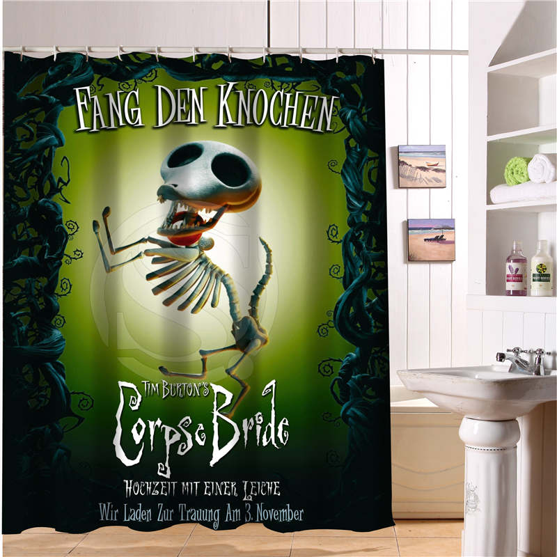 nanaz hot sale the nightmare before christmas1 custom waterproof shower curtain bathroom decor more sizes in shower curtains from home garden on