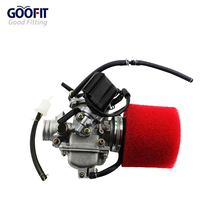 GOOFIT PD24J Carburetor with Air Filter for GY6 125cc 150cc 152QMI 157QMJ Engine Based ATV Scooter