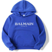 2019 new brand men and women models BALMAIN hoodie long sleeve warm autumn casual men's unisex pullover hooded sweater men(China)