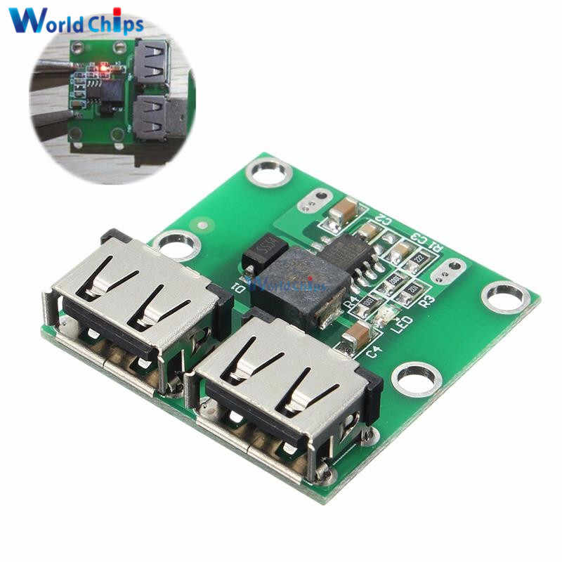 DC-DC step down carregador power module dupla usb saída buck placa de tensão 9 v 12 v 24 v a 5 v 3a carro carga regulador de carregamento 6-26 v