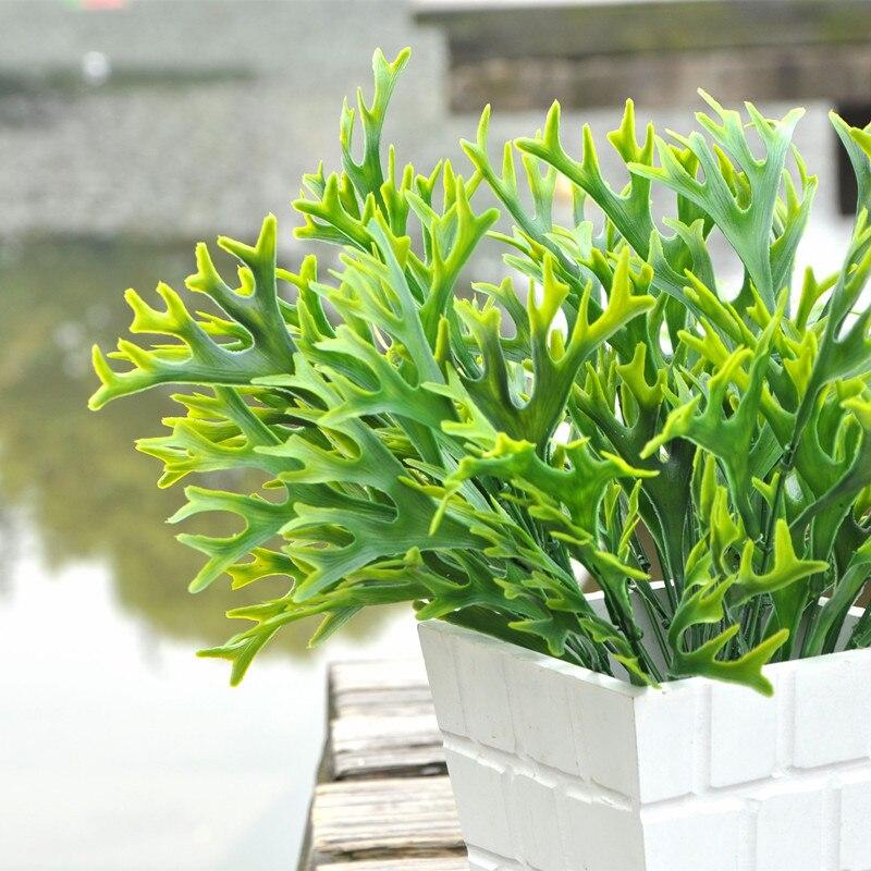 5 Gabeln Geweih Gras Blatt Künstliche Kunststoff Blume Pflanze ...