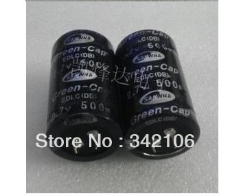 Free Shipping! 1pc  High Quality 2.7V 500F Super  Capacitor  Farad Capacitor