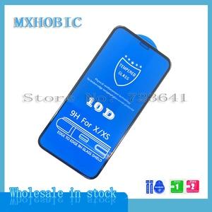 Image 2 - 50 pièces/lot 10D couverture complète Protection verre trempé pour iPhone X XS 11 Pro Max XR 8 7 6 6S Plus protecteur décran Film protecteur