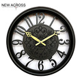 Gohide 1pcs Electronic clock ultra quiet room clock European style 15 inch round the clock home decoration