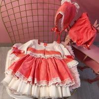 2019 Spanish Vintage Clothing Baby Princess Dress For Girls Summer children Top cardigan And Dresses Kids Clothes Vestidos Y1214